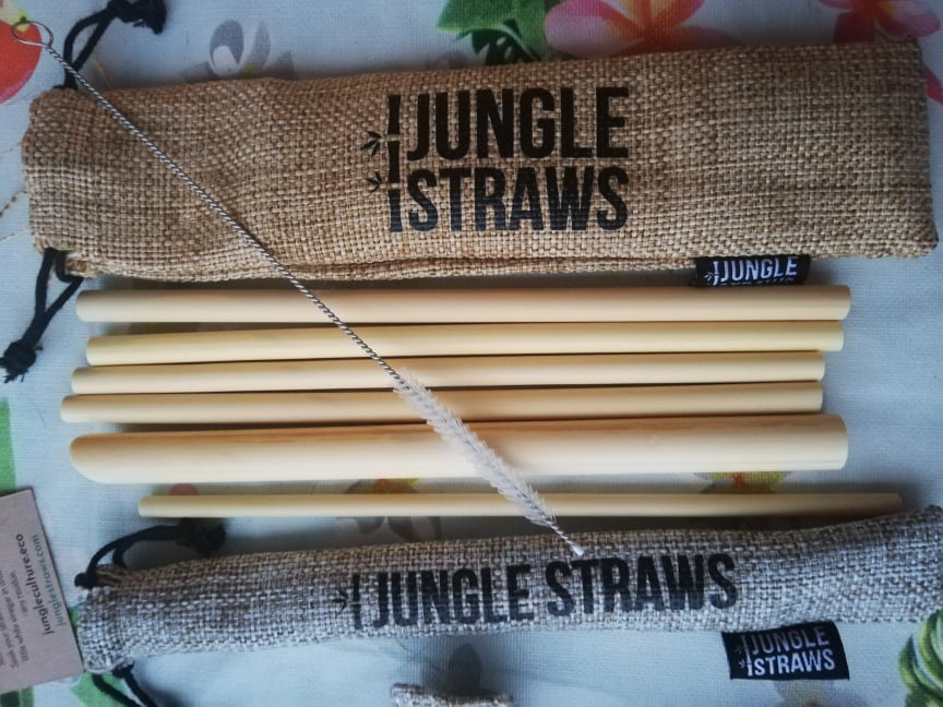 accessori eco friendly viaggio Kit di cannucce - Jungle Straws del brand Jungle Culture