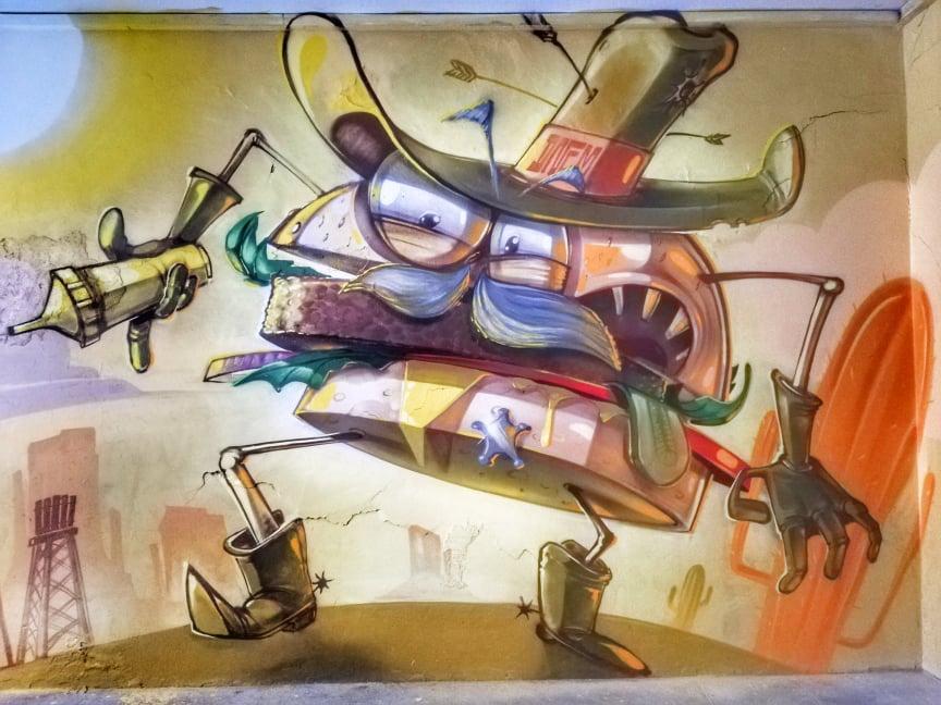 street art Ancona murales Capodimonte Sheriff burger francesco onem
