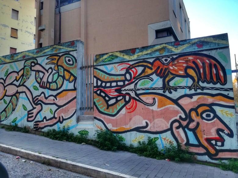tour murales Ancona Lu Fra via Capodistria