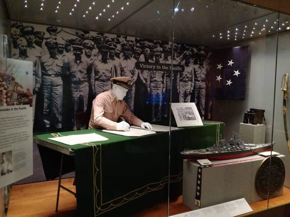 visita Accademia Navale Annapolis Museo riproduzione di momenti salienti della storia della Marina. Vittoria nel Pacifico