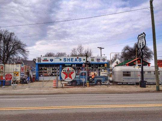 Sheas's Gas Station Springfield Illinois - Attrazioni lungo la Route 66 -