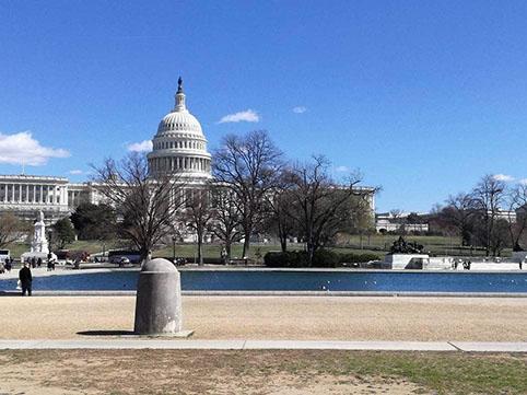 visita al Campidoglio di Washington Dc - vista dall'esterno arrivando dal National Mall