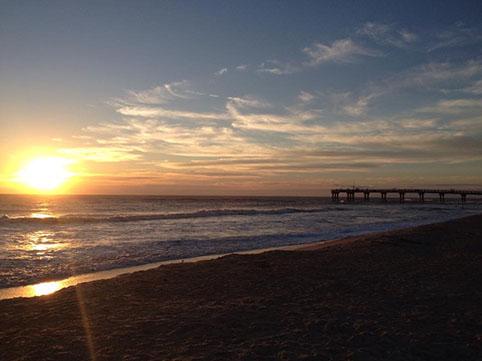 Tramonto in spiaggia a St Augustine - cosa vedere a St Augustine Florida