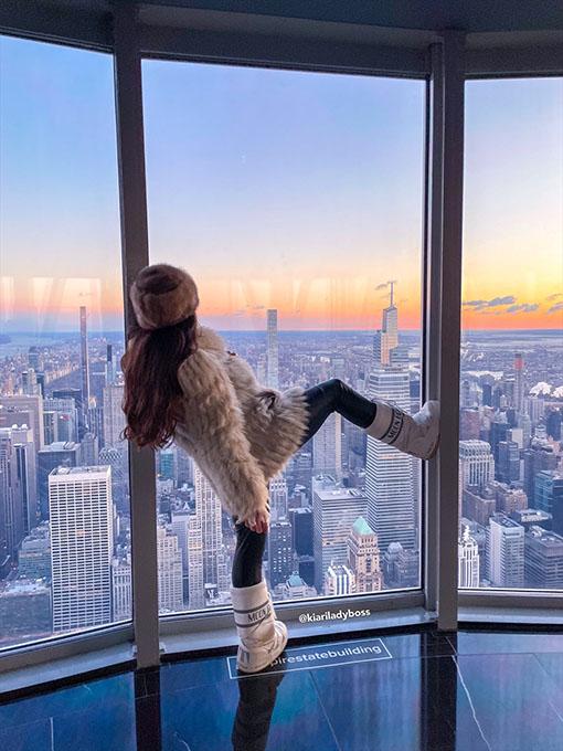 intervista a Kiara di Paola Kiariladyboss New York City 4 vista dall'empire state building