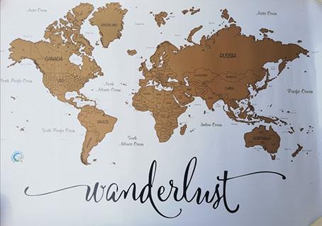 scratch map world wanderlust cosa regalare ad un viaggiatore