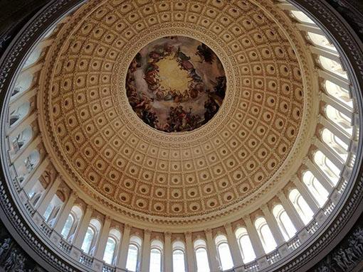 Rotunda - Visita all'interno del Campidoglio di Washington Dc