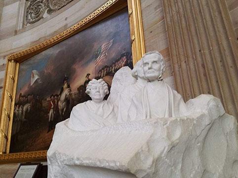 Scultura e dipinti - Visita all'interno del Campidoglio di Washington Dc