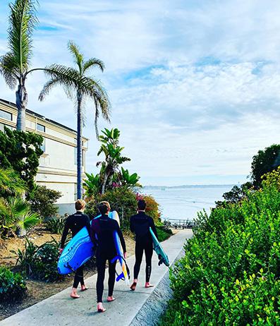 intervista a Giada Bravo La mia California, passeggiata pedonale al Seaport Village San Diego