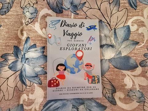 Diario di viaggio per bambini giovani esploratori copertina
