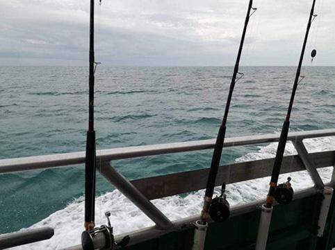 Mulinelli pronti per la pesca a Marathon nelle Florida Keys