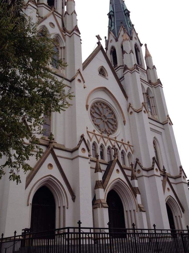 Cattedrale di San Giovanni Battista - Cathedral of Saint John the Baptist in stile gotico francese Savannah Georgia