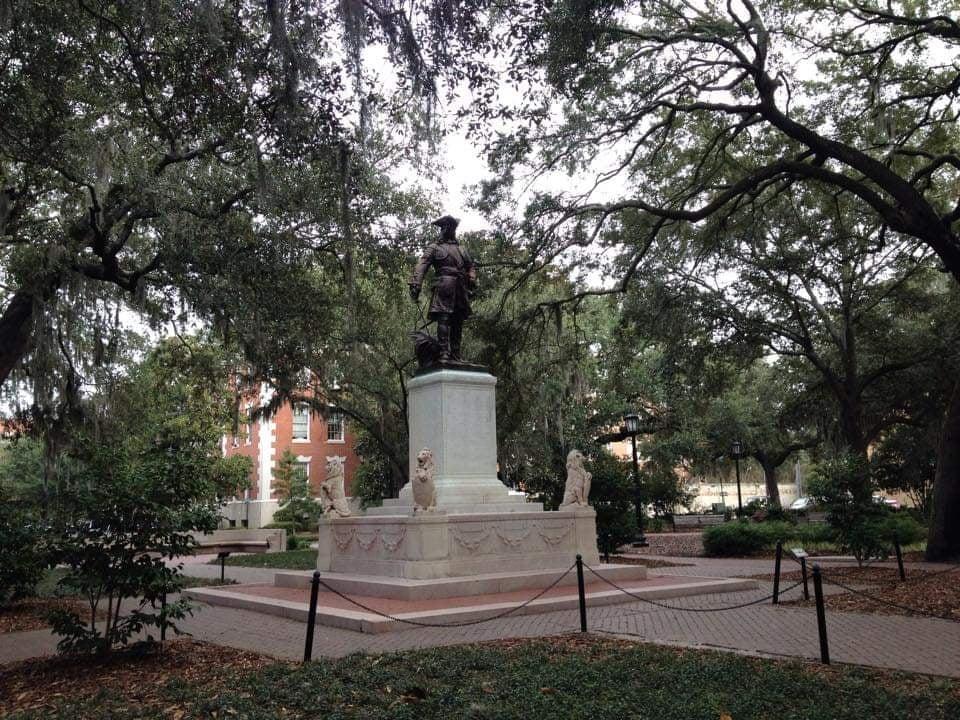 Cosa Vedere a Savannah Georgia - Chippewa Square statua di James Oglethorpe