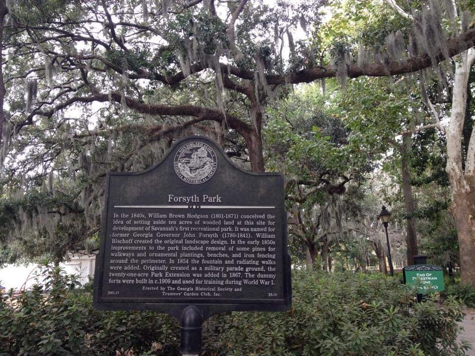 Ingresso al Forsyth park Cosa Vedere a Savannah Georgia