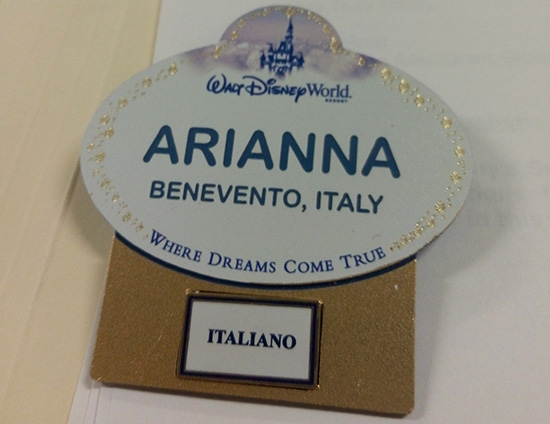 Name Tag Walt Disney World di Arianna - World in Technicolor