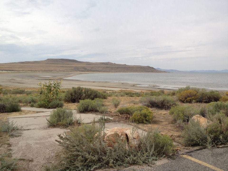 Spiaggia del Great Salt Lake - Visitare Antelope Island State Park 40 miglia a nord da Salt Lake City