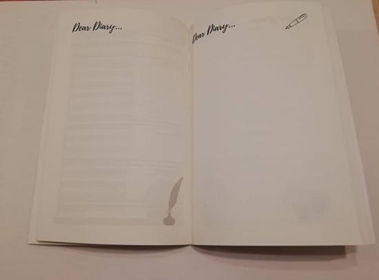 Diario di viaggio con schede da compilare - sezione pagine bianche Dear Diary in cui scrivere pensieri ed emozioni