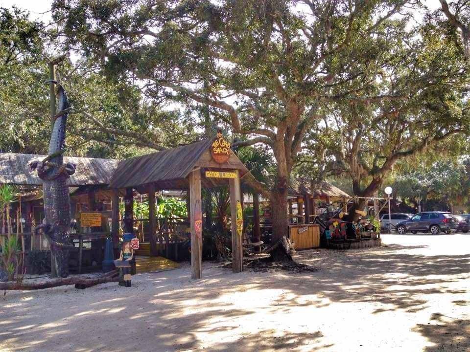 Ingresso alla Gator Lagoon del The Crab Shack  miglior ristorante pesce Tybee Island
