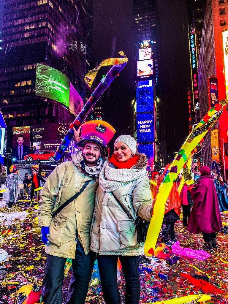 Capodanno a Times Square - NYC Giada & Giuseppe festeggiano - ©A Plus Intorno al Mondo