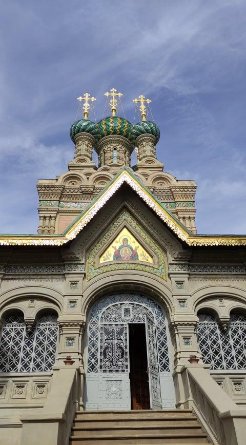 Ingresso della Chiesa russa ortodossa di Firenze