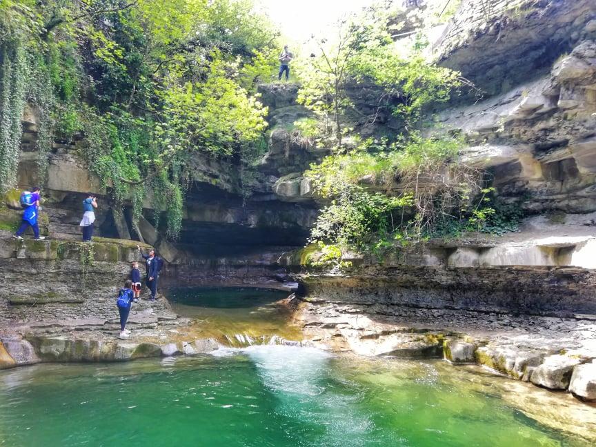 Grotta Urlante di Premilcuore - Vista dalla riva sinistra