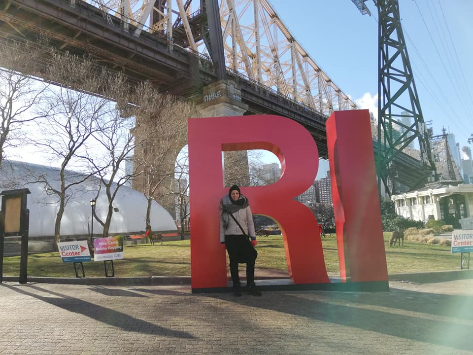 Roosevelt Island Visitor Center alla fermata della funivia