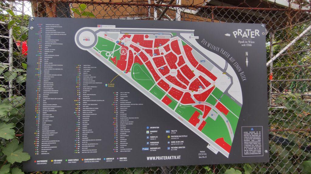 Mappa attrazioni Prater Vienna