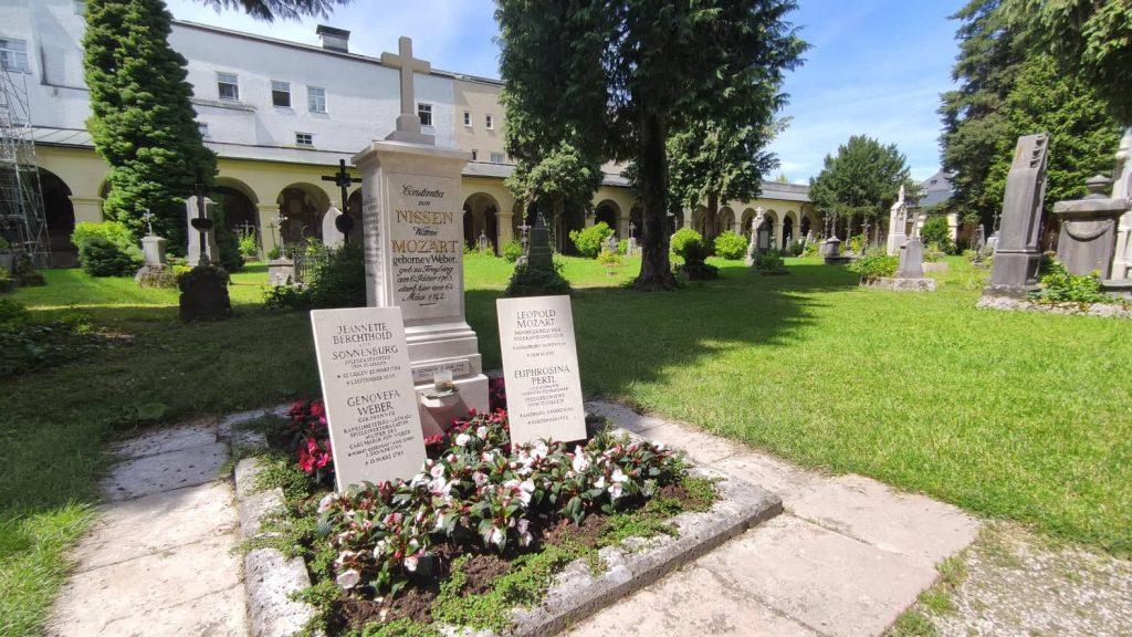 Tomba della famiglia Mozart nel cimitero di S. Sebastiano a Salisburgo