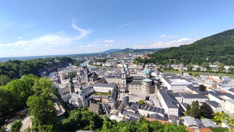 Vista su Salisburgo da Hohensalzburg