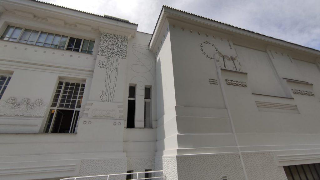 Dettagli laterali del Palazzo della Secessione Viennese di Klimt
