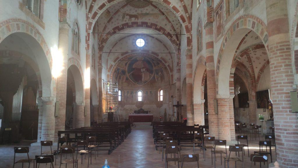 Navata centrale - Basilica di San Bassiano - Lodi Vecchio